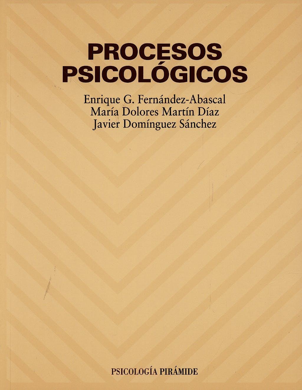 Portada del libro 9788436816051 Procesos Psicologicos