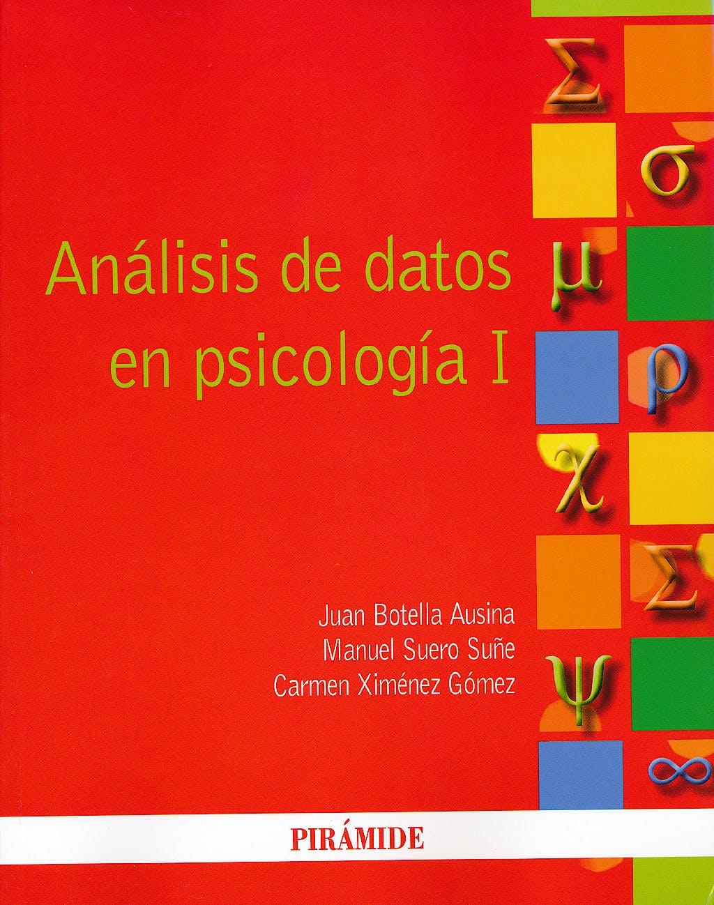Portada del libro 9788436826555 Analisis de Datos en Psicologia I