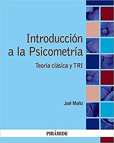 Portada del libro 9788436839326 Introducción a la Psicometría: Teoría Clásica y TRI