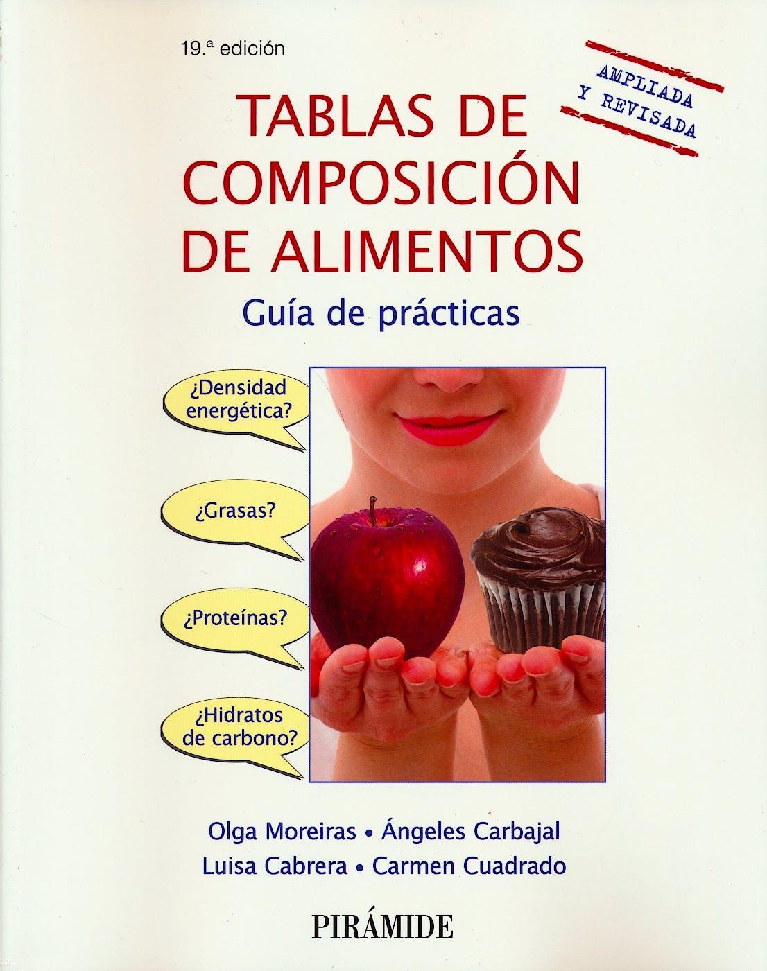 Portada del libro 9788436839470 Tablas de Composición de Alimentos. Guía de Prácticas
