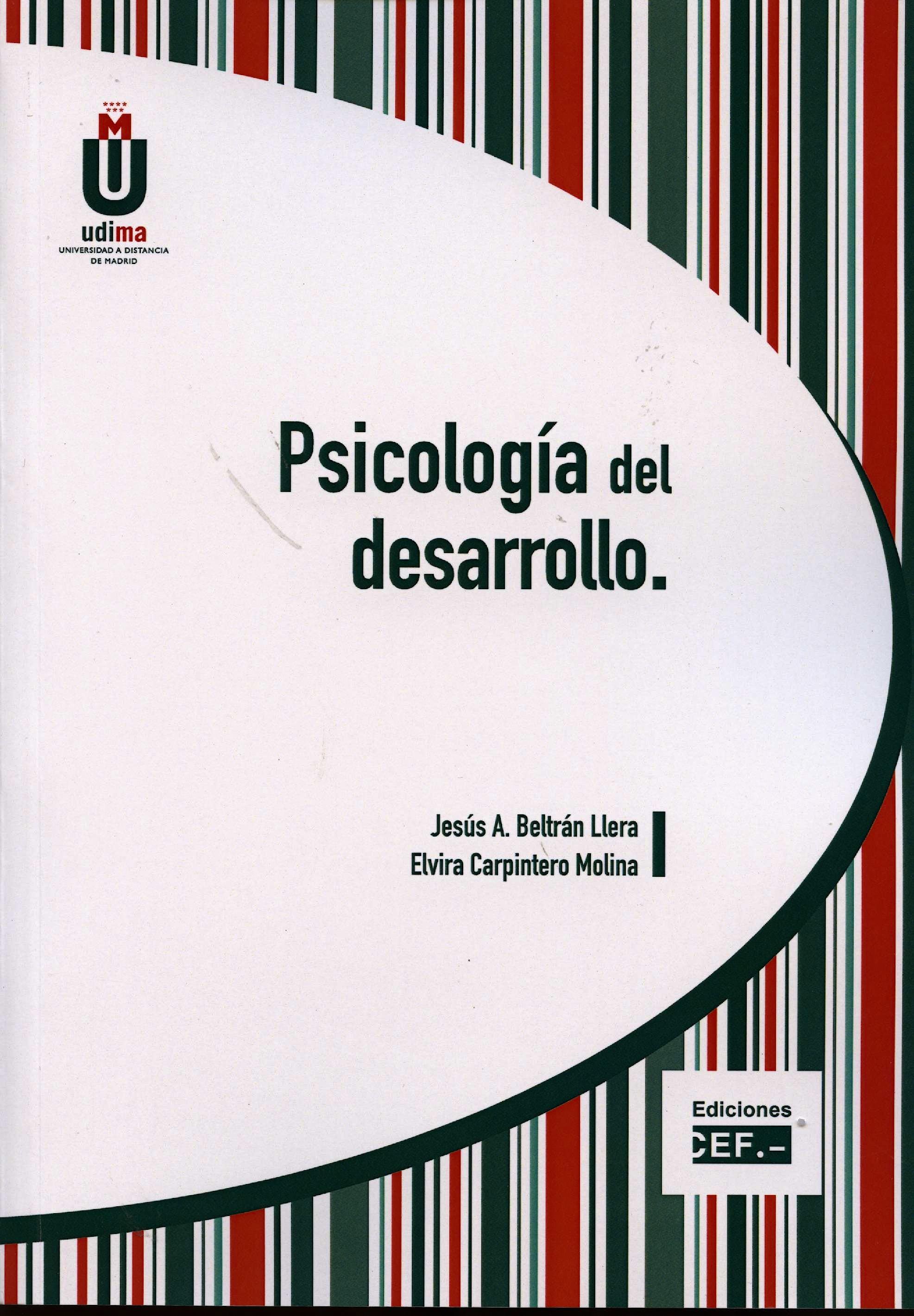 Portada del libro 9788445424780 Psicología del Desarrollo