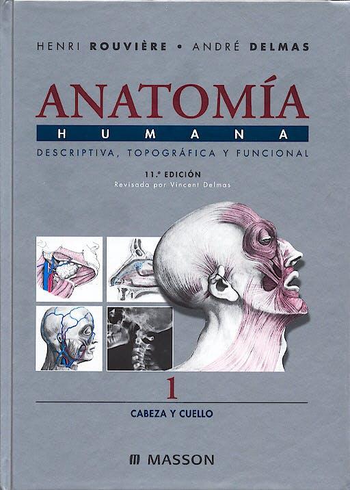 Portada del libro 9788445813133 Anatomía Humana, Vol. 1: Cabeza y Cuello