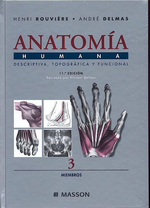 Portada del libro 9788445813157 Anatomía Humana, Vol. 3: Miembros