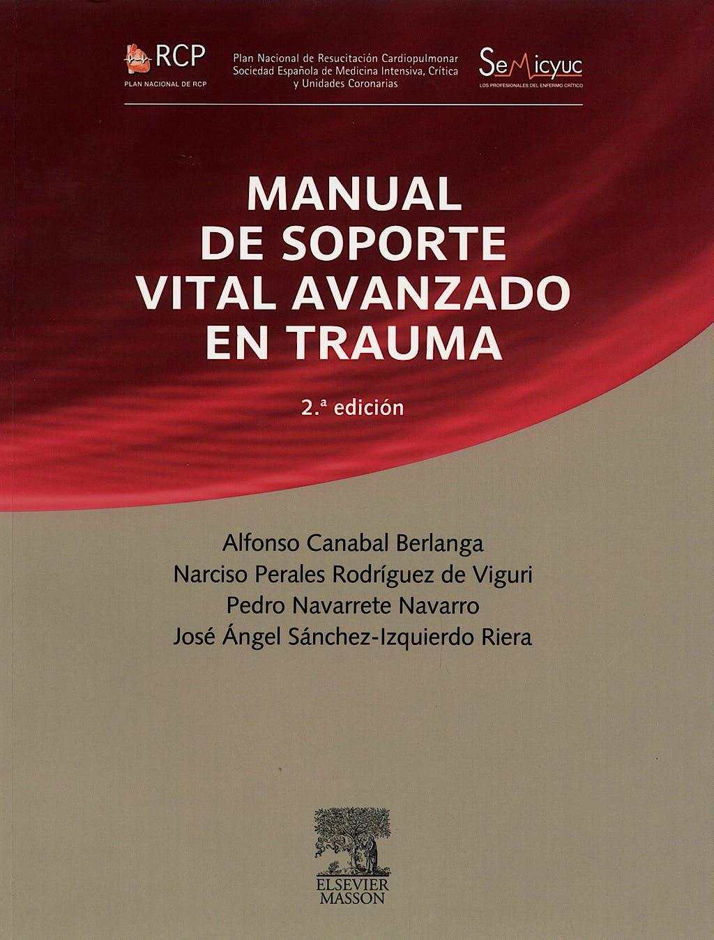 Portada del libro 9788445818954 Manual de Soporte Vital Avanzado en Trauma