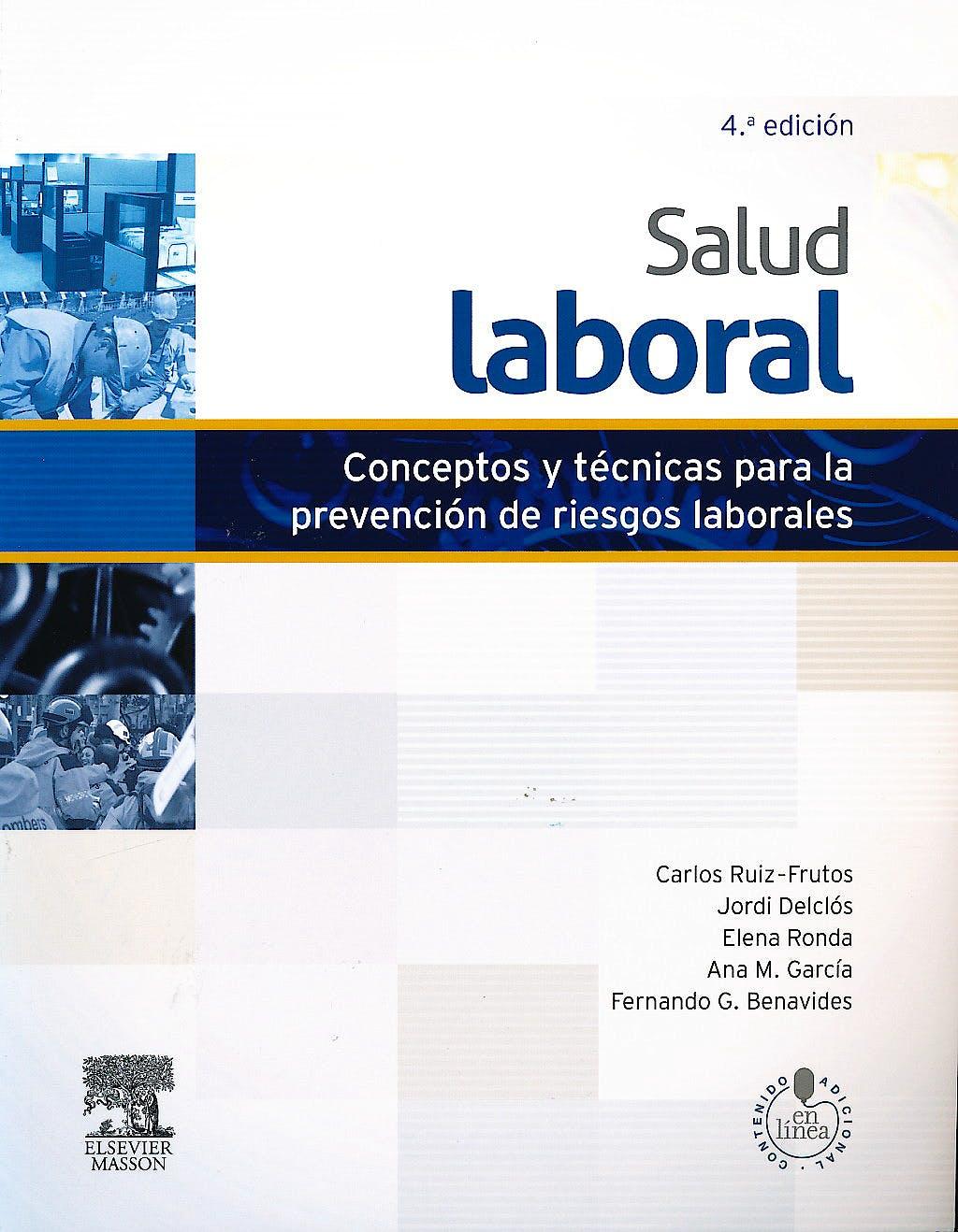 Portada del libro 9788445821466 Salud Laboral. Conceptos y Técnicas para la Prevención de Riesgos Laborales + Acceso Online