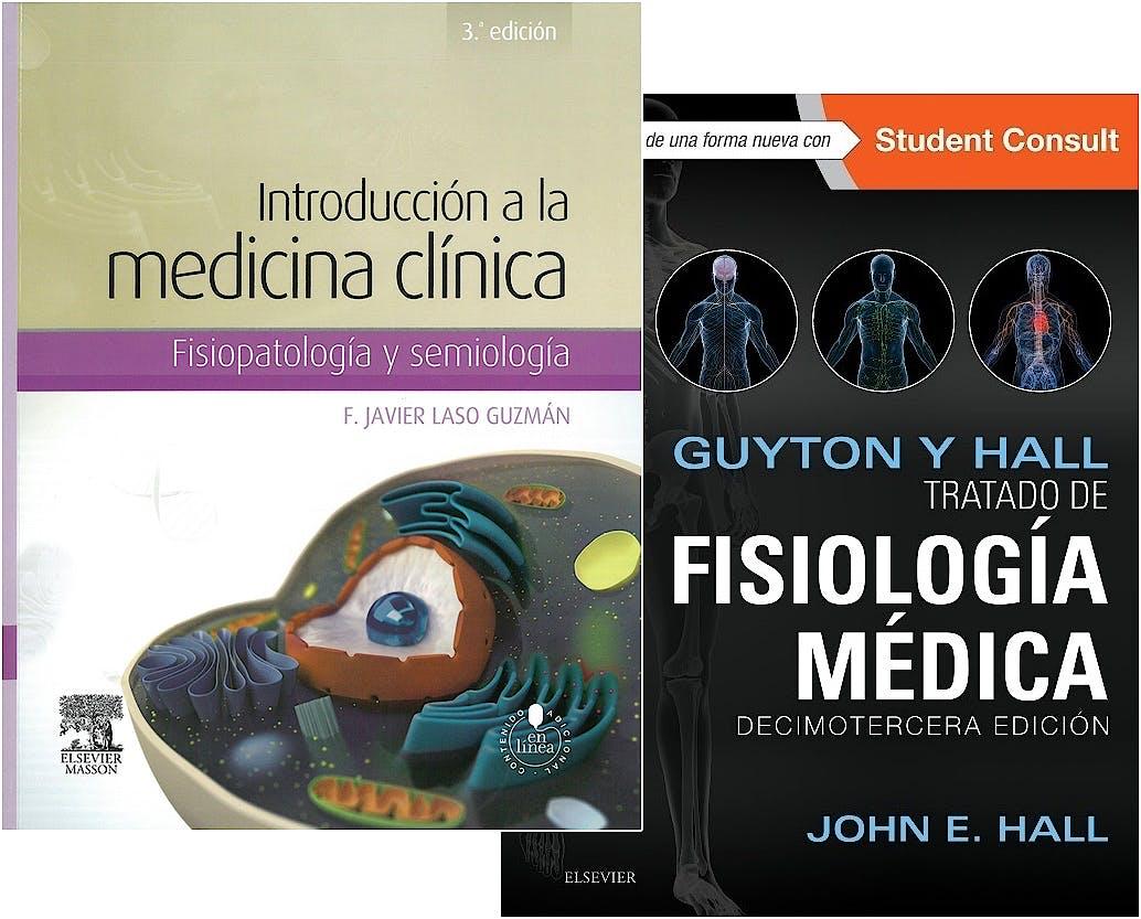 Portada del libro 9788445826751 Lote Guyton y Hall Tratado de Fisiología Médica + Introducción a la Medicina Clínica. Fisiopatología y Semiología