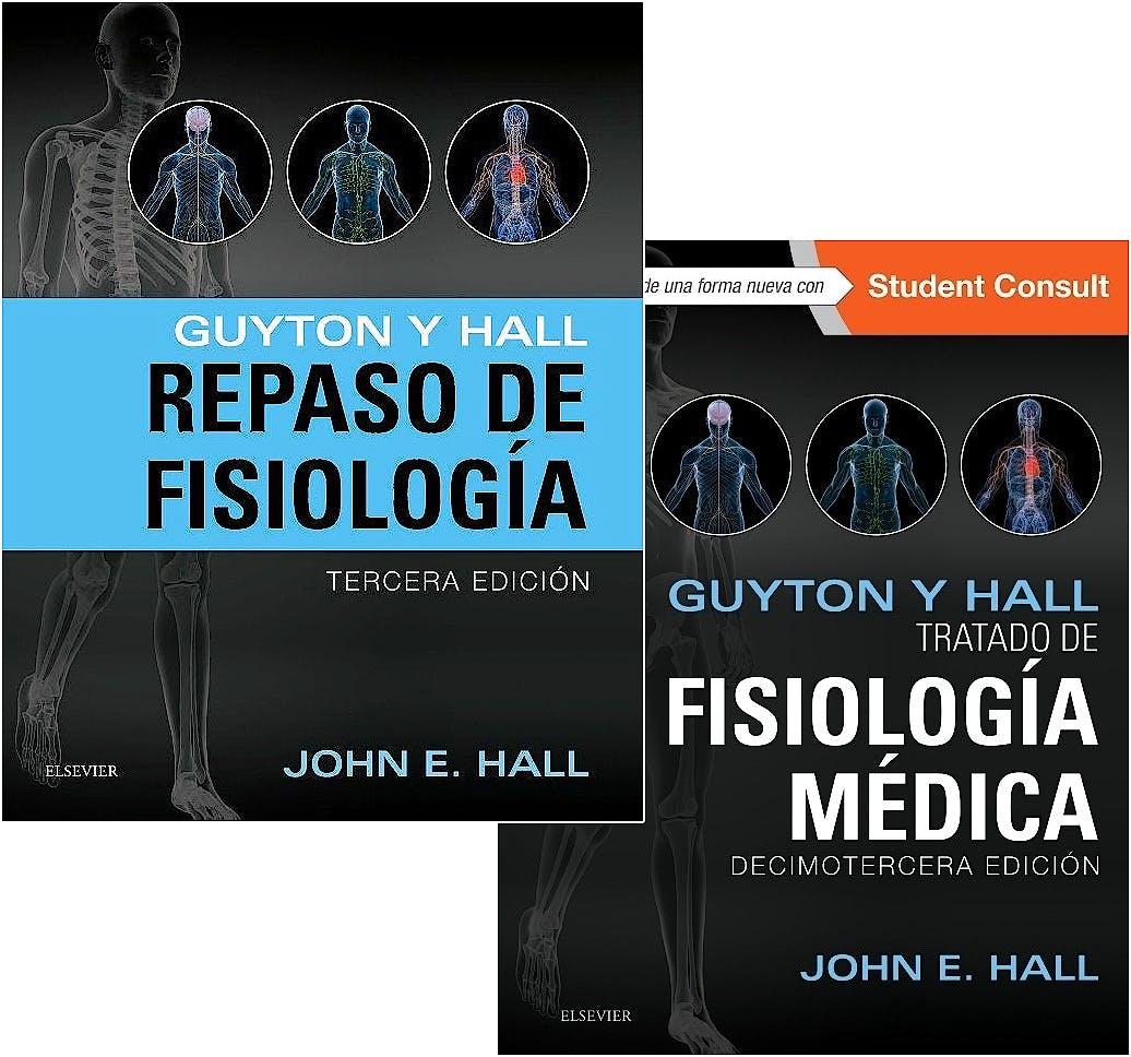 Portada del libro 9788445826775 Lote Guyton y Hall Tratado de Fisiología Médica + Guyton y Hall Repaso de Fisiología