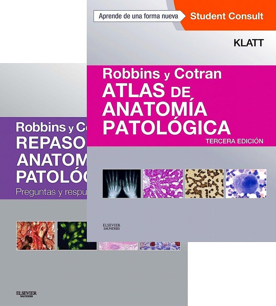 Portada del libro 9788445826799 Lote Robbins y Cotran Repaso de Anatomía Patológica + Robbins y Cotran Atlas de Anatomía Patológica