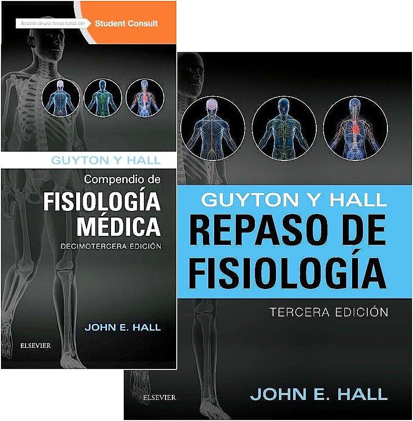 Portada del libro 9788445826959 Lote Guyton y Hall Compendio de Fisiología Médica + Guyton y Hall Repaso de Fisiología