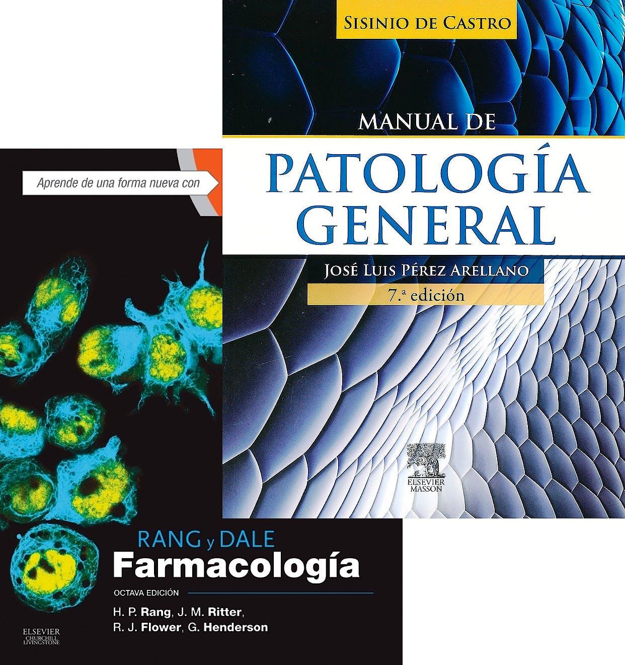 Portada del libro 9788445826966 Lote Sisinio de Castro Manual de Patología General + Rang y Dale Farmacología