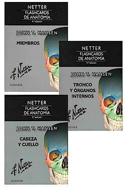 Portada del libro 9788445827086 Fichas de Autoevaluación Netter Flashcards de Anatomía (3 Cuadernillos)