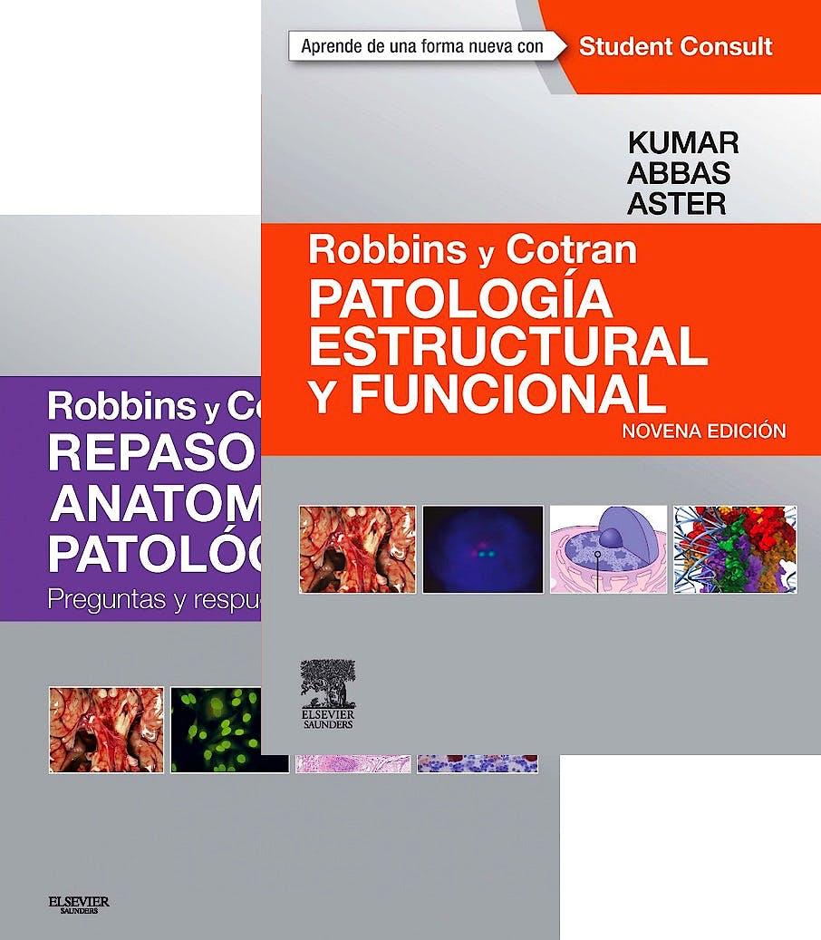 Portada del libro 9788445827093 Lote Robbins y Cotran Repaso de Anatomía Patológica + Robbins y Cotran Patología Estructural y Funcional