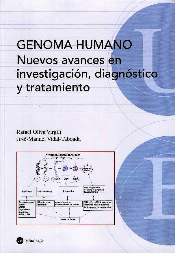 Portada del libro 9788447530359 Genoma Humano: Nuevos Avances en Investigacion, Diagnostico y Tratamiento