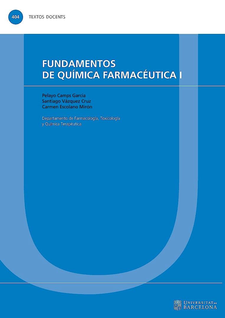 Portada del libro 9788447539680 Fundamentos de Química Farmacéutica I