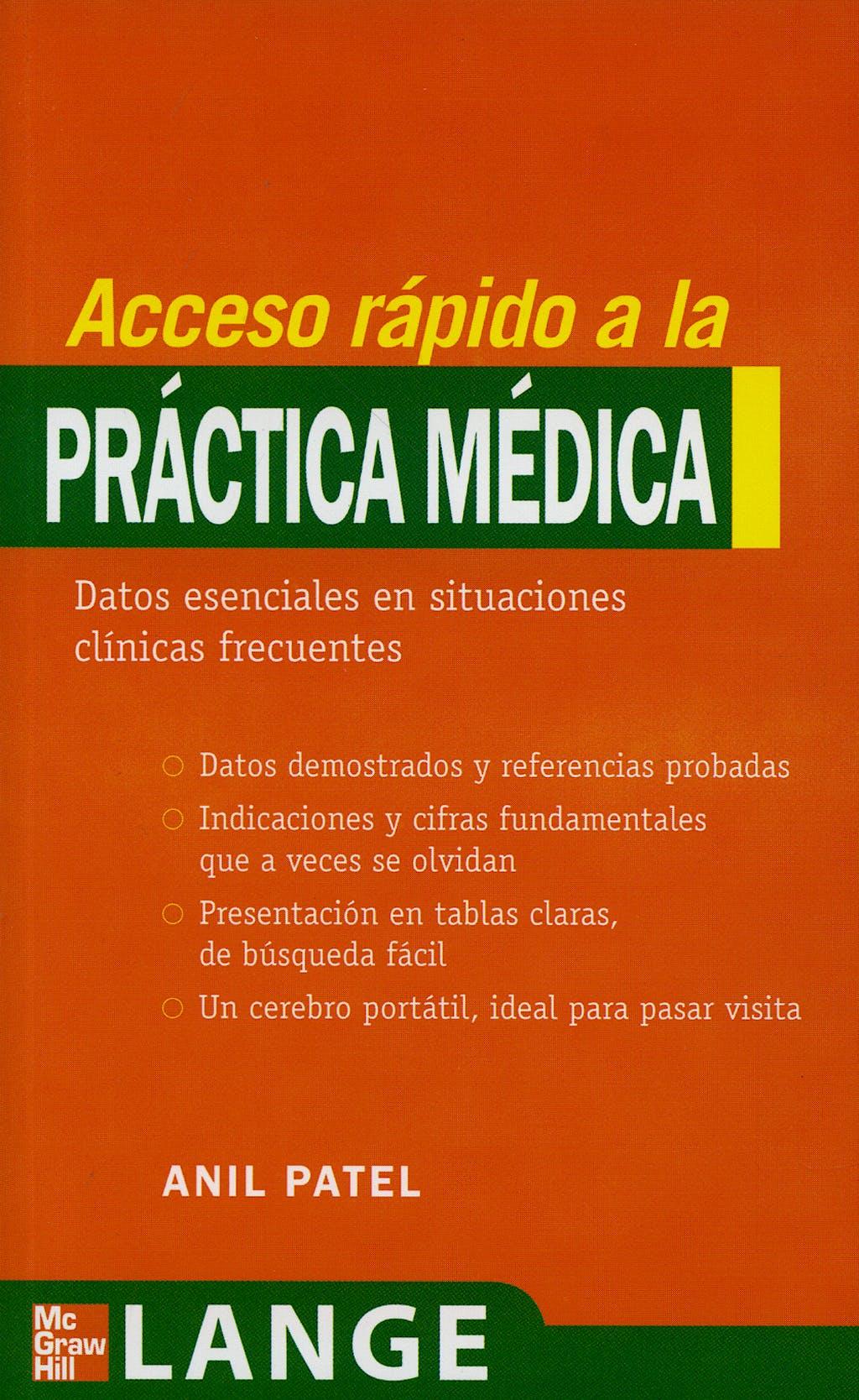 Portada del libro 9788448160029 Acceso Rapido a la Practica Medica. Lange