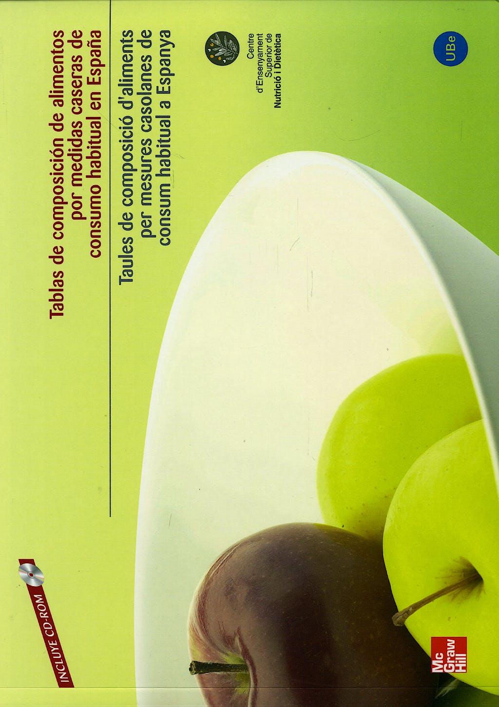 Portada del libro 9788448160906 Tablas de Composicion de Alimentos por Medidas Caseras + Cd-Rom