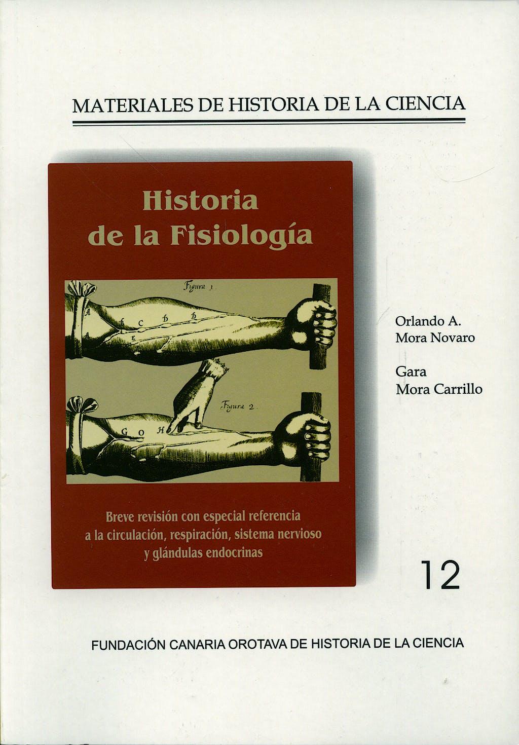 Portada del libro 9788461189625 Historia de la Fisiologia (Materiales de Historia de la Ciencia Nº12)