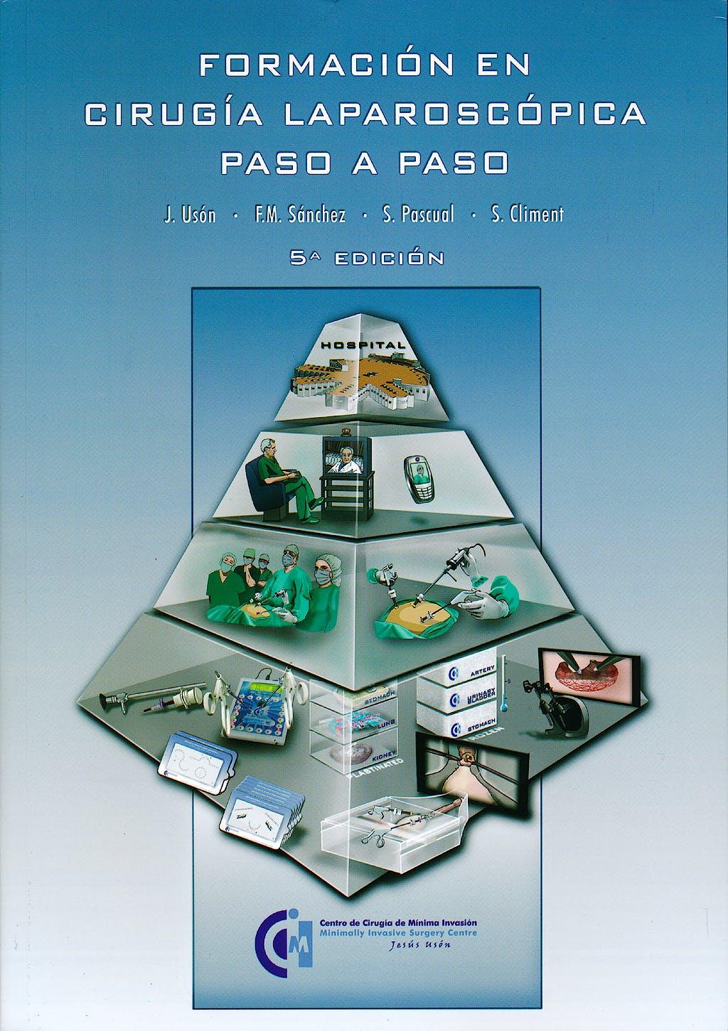 Portada del libro 9788461653638 Formacion en Cirugia Laparoscopica. Paso a Paso + 2 Dvds