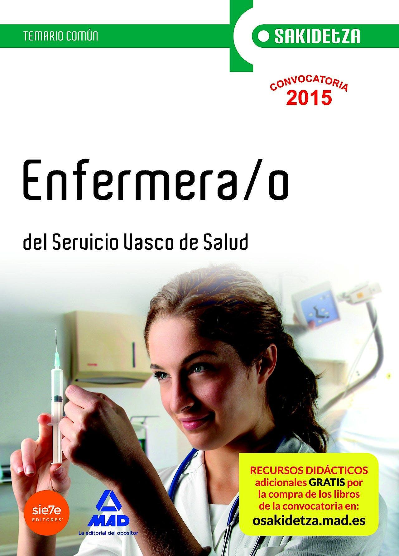 Portada del libro 9788467608694 Enfermera/o Servicio Vasco de Salud-Osakidetza. Temario Comun