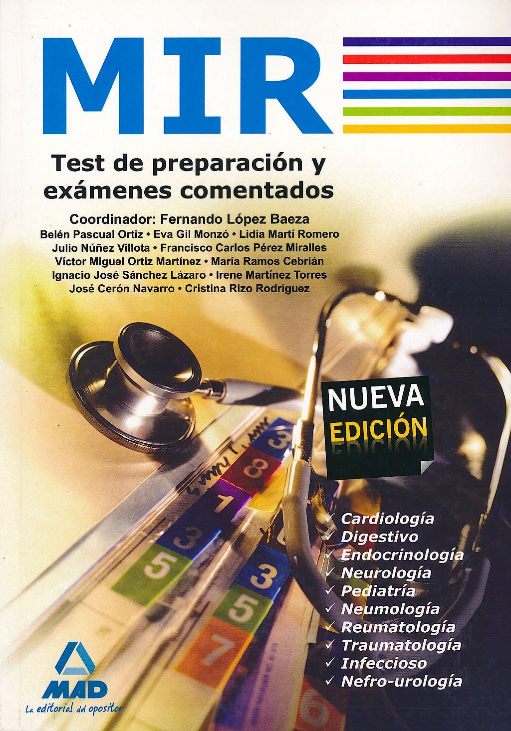 Portada del libro 9788467628470 Mir Test de Preparacion y Examenes Comentados