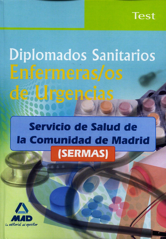 Portada del libro 9788467634662 Diplomados Sanitarios Enfermeras/os de Urgencias, Sermas. Test