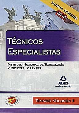 Portada del libro 9788467650198 Tecnicos Especialistas del Instituto Nacional de Toxicologia y Ciencias Forenses. Temario, Vol. II