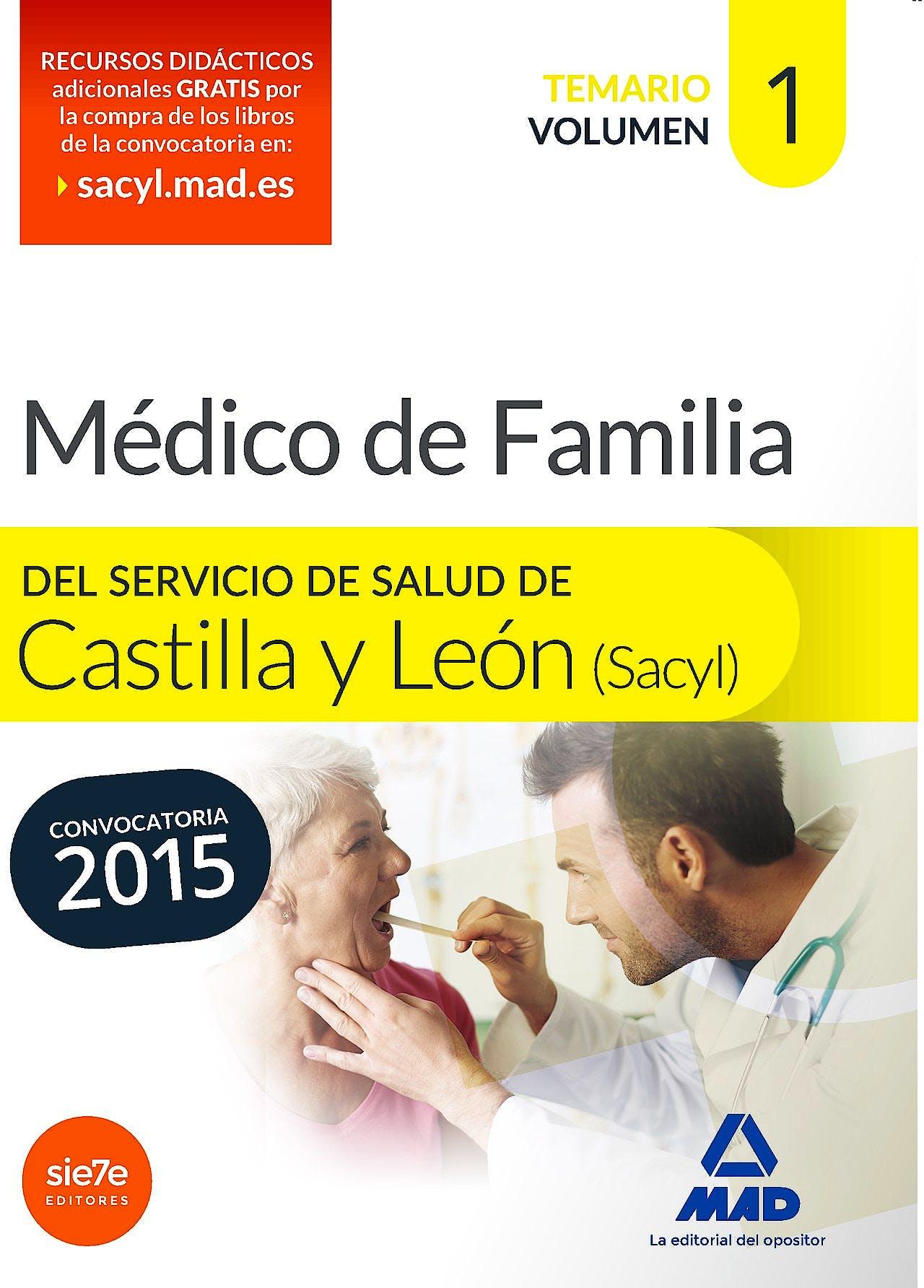 Portada del libro 9788467683349 Medico de Familia del Servicio de Salud de Castilla y Leon (Sacyl). Temario, Vol. 1