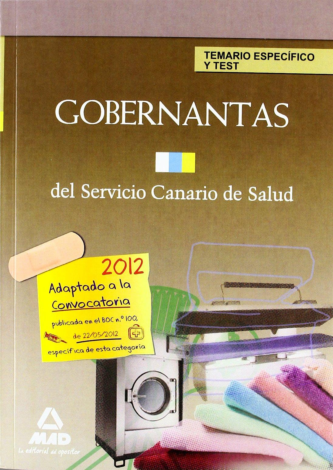 Portada del libro 9788467683844 Gobernantas del Servicio Canario de Salud. Temario Específico y Test