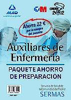 Portada del libro 9788467685954 Paquete Ahorro Auxiliares de Enfermería del SERMAS (Incluye Temarios I y II + Tests + Simulacros de Examen, Total 4 Libros)