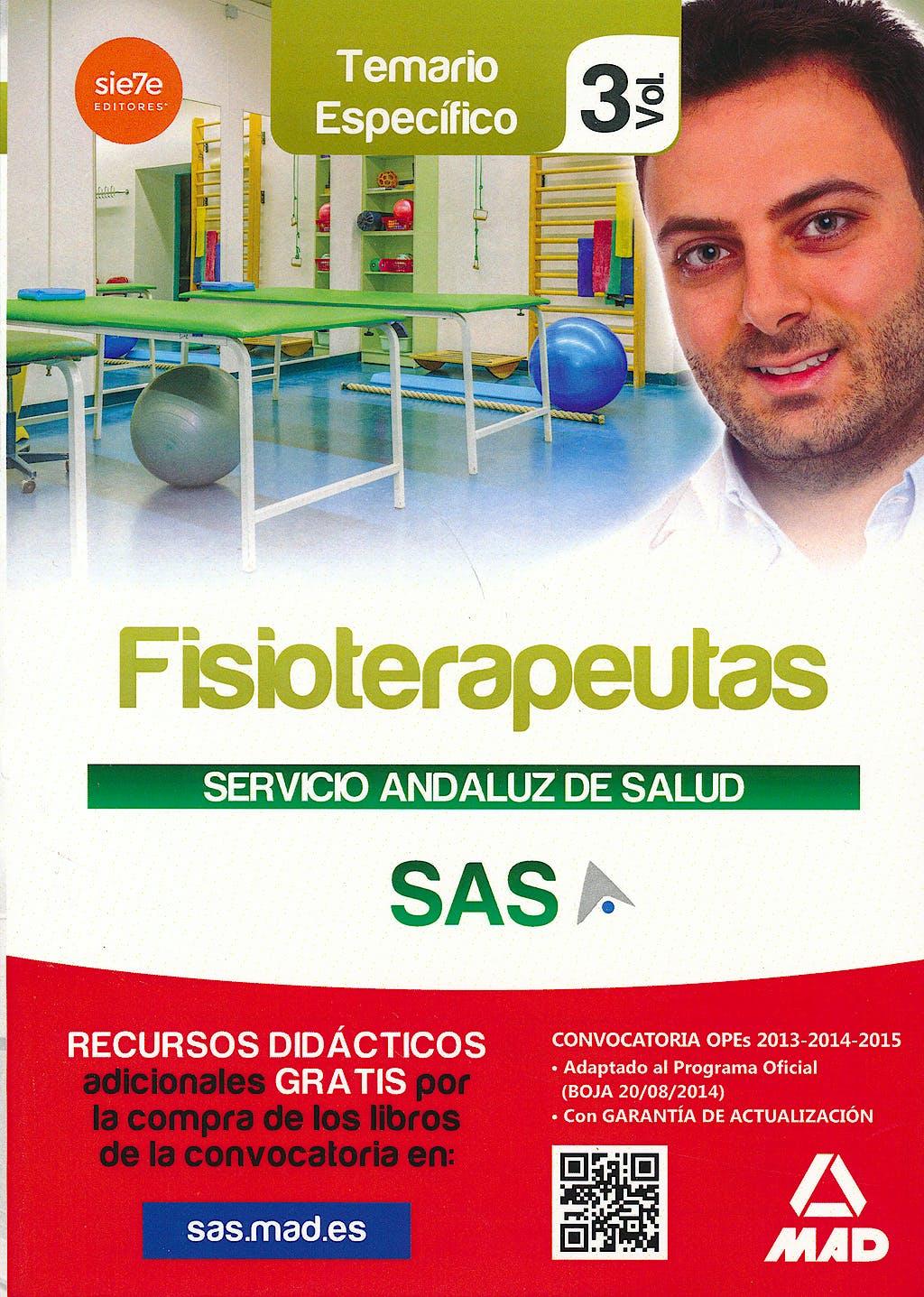 Portada del libro 9788467699326 Fisioterapeutas Servicio Andaluz de Salud (Sas). Temario Especifico, Vol. 3