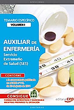 Portada del libro 9788468123158 Auxiliar de Enfermeria Servicio Extremeño de Salud (Ses). Temario Especifico, Vol. I