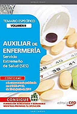 Portada del libro 9788468123165 Auxiliar de Enfermeria Servicio Extremeño de Salud (Ses). Temario Especifico, Vol. II