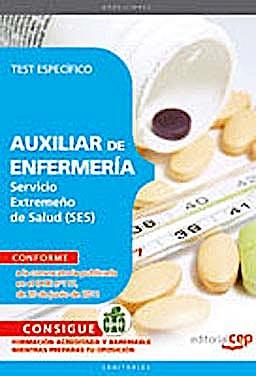 Portada del libro 9788468123172 Auxiliar de Enfermeria Servicio Extremeño de Salud (Ses). Test Especifico