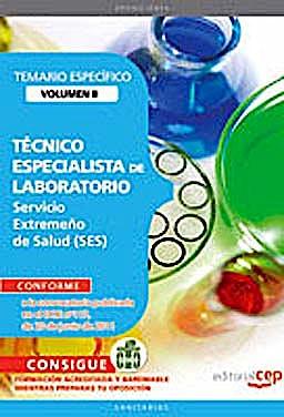 Portada del libro 9788468123400 Tecnico Especialista de Laboratorio Servicio Extremeño de Salud (Ses). Temario Especifico, Vol. II