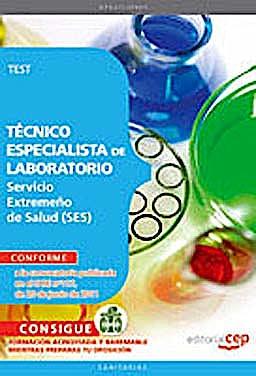 Portada del libro 9788468123417 Tecnico Especialista de Laboratorio Servicio Extremeño de Salud (Ses). Test