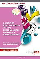 Portada del libro 9788468125831 Ejercicios Psicotécnicos II: Test de Personalidad, Memoria y Razonamiento