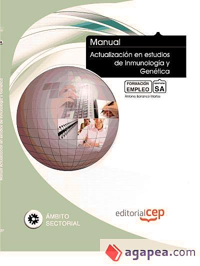 Portada del libro 9788468149837 Manual Actualizacion en Estudios de Inmunologia y Genetica