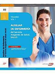 Portada del libro 9788468151663 Auxiliar de Enfermeria del Servicio Aragones de Salud. Temario, Vol. I