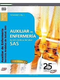 Portada del libro 9788468154022 Auxiliar de Enfermeria Servicio Andaluz de Salud (Sas). Temario, Vol. I
