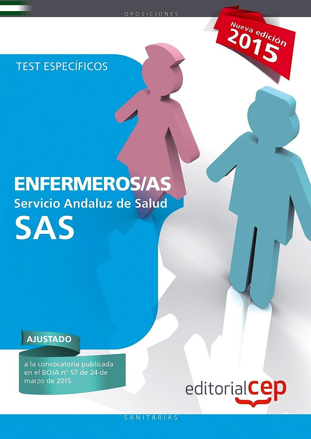 Portada del libro 9788468157283 Enfermeros Servicio Andaluz de Salud (Sas). Test Especificos