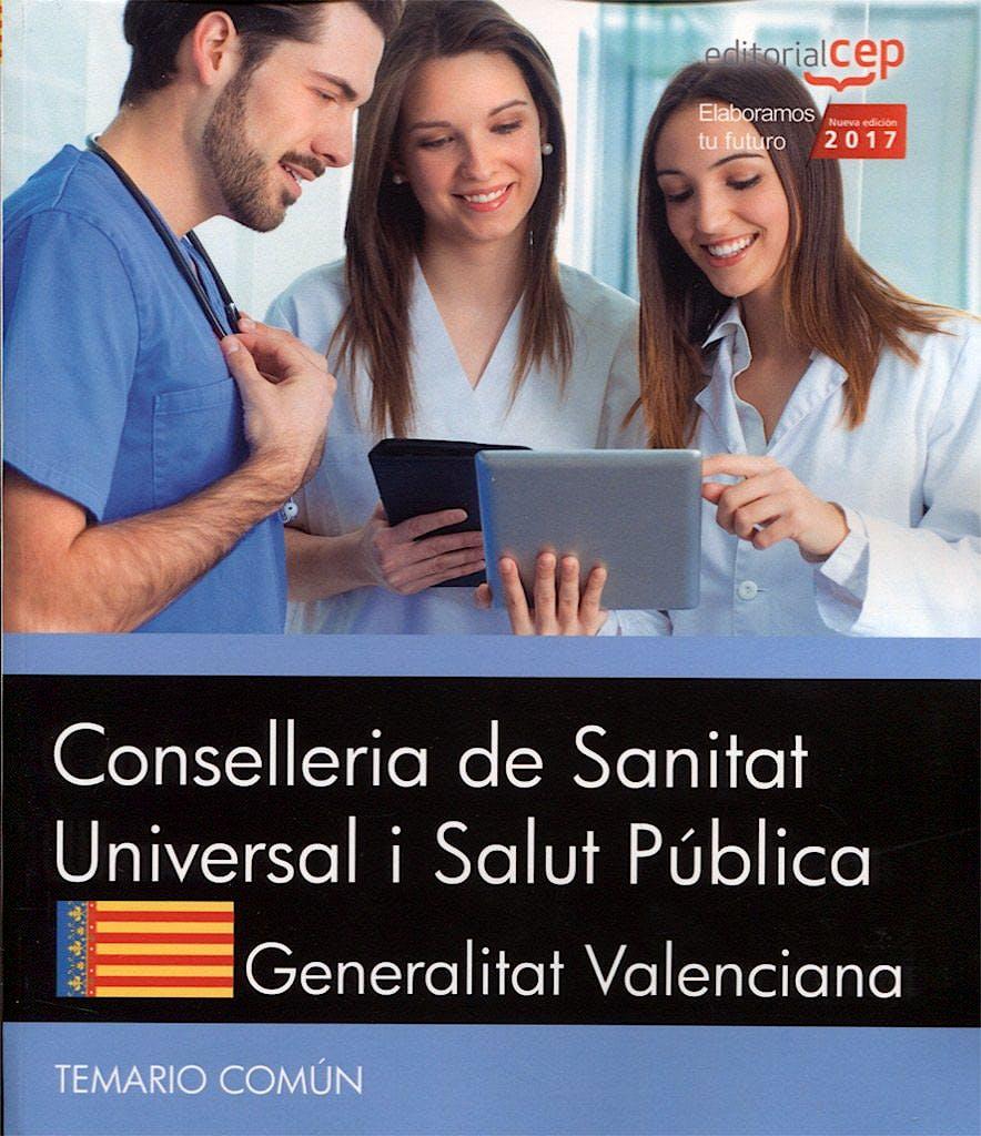 Portada del libro 9788468177052 Conselleria de Sanitat Universal I Salut Publica Generalitat Valenciana. Temario Común