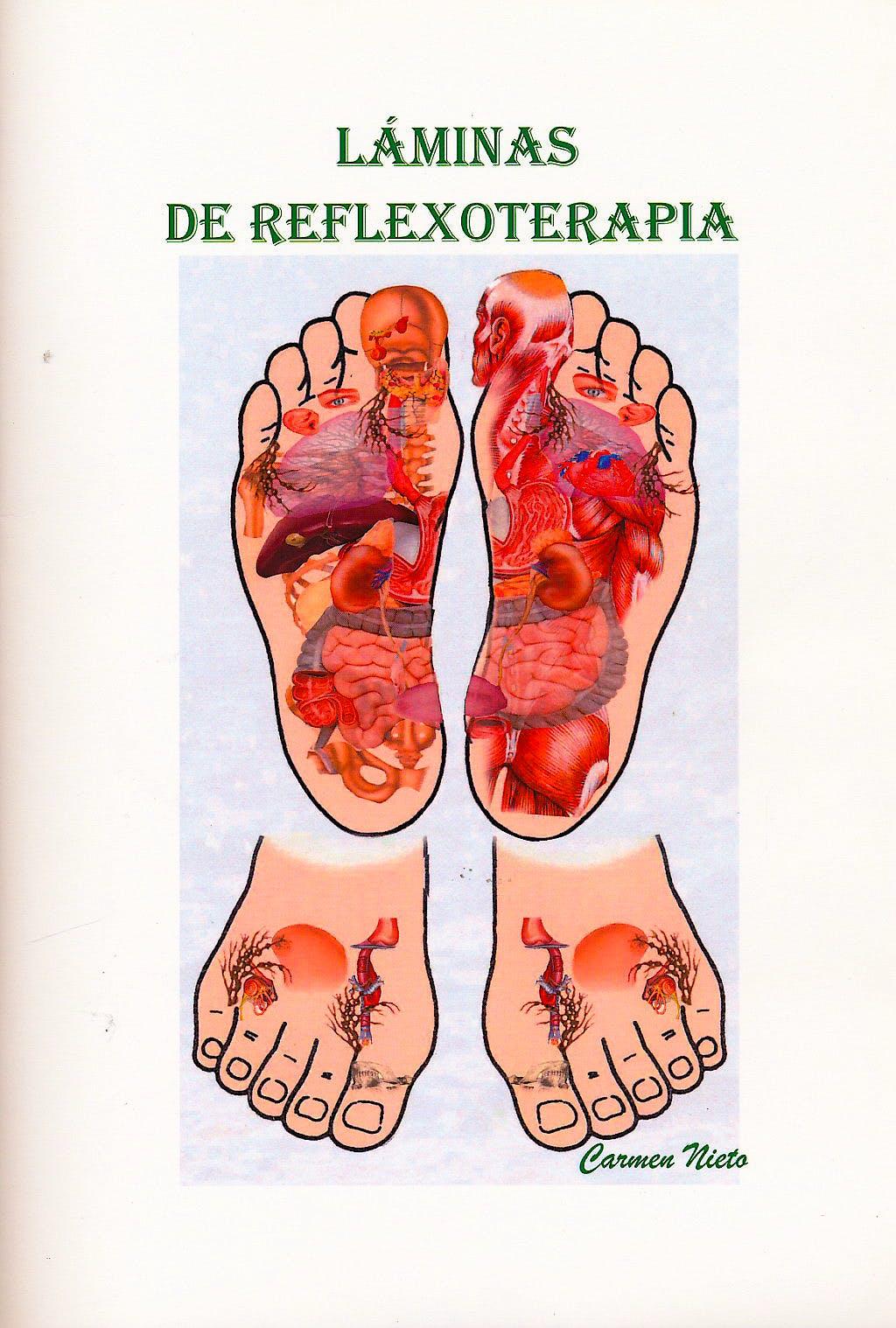 Portada del libro 9788469536896 Láminas de Reflexoterapia (Colección 12 Láminas)