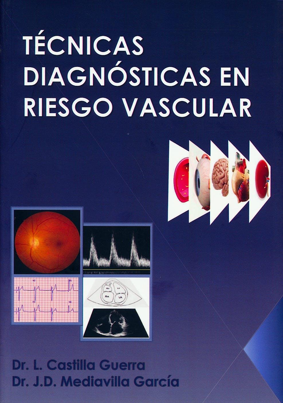 Portada del libro 9788469734698 Técnicas Diagnósticas en Riesgo Vascular