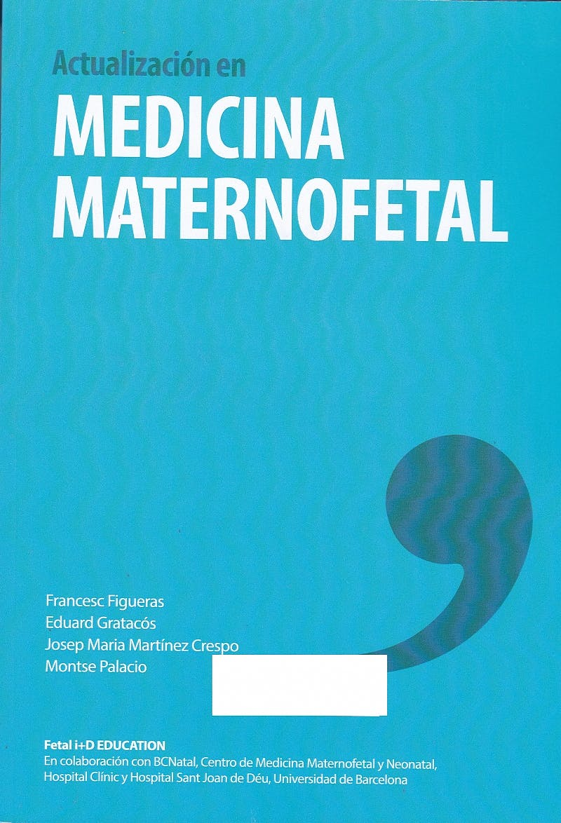 Portada del libro 9788469794005 Actualización en Medicina Maternofetal