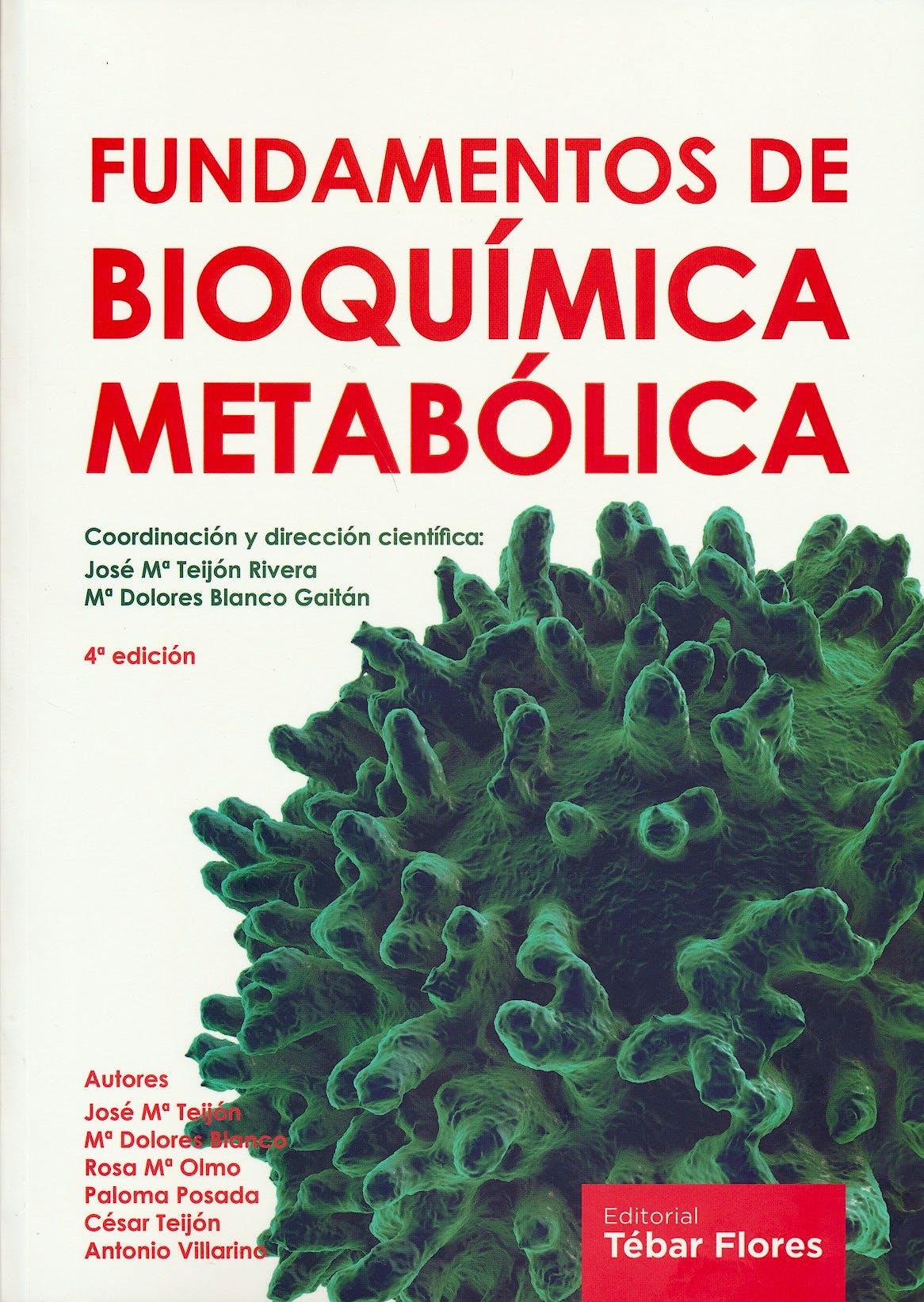 Portada del libro 9788473605687 Fundamentos de Bioquímica Metabólica