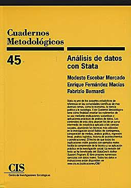 Portada del libro 9788474764833 Analisis de Datos con Stata