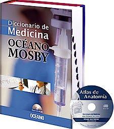 Portada del libro 9788475550749 Diccionario de Medicina Oceano Mosby + Cd-Rom Atlas de Anatomia