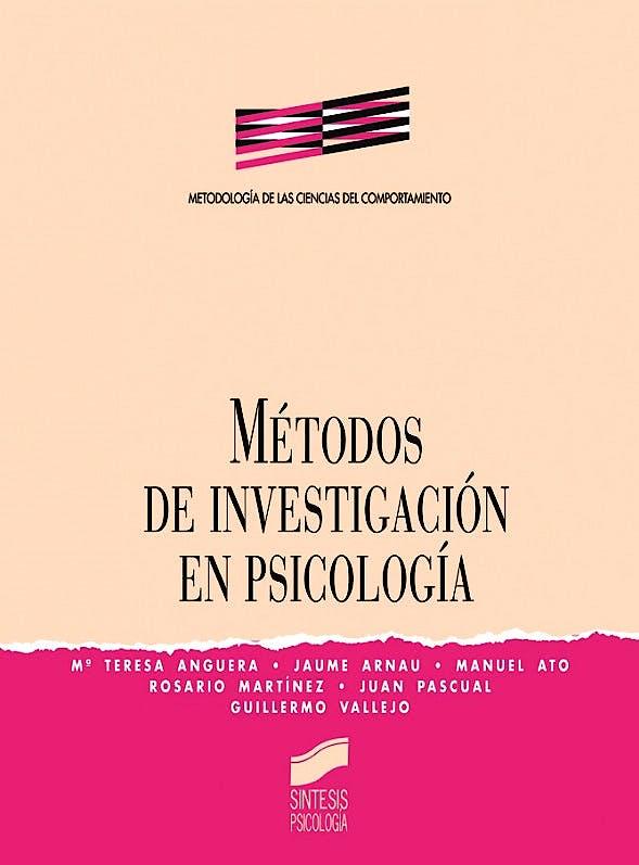 Portada del libro 9788477382843 Metodos de Investigacion en Psicologia