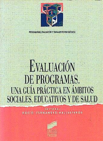 Portada del libro 9788477383116 Evaluacion de Programas