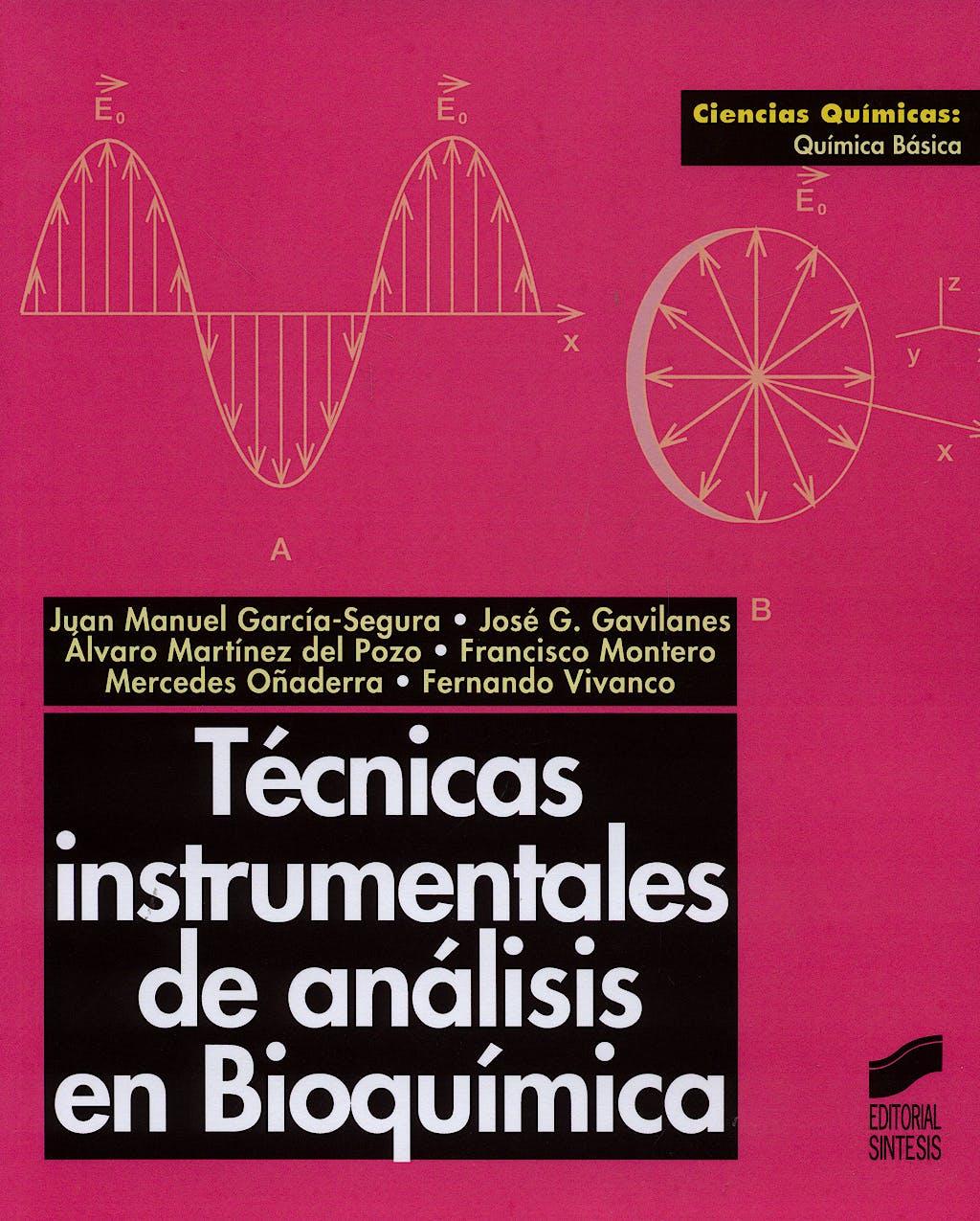 Portada del libro 9788477384298 Técnicas Instrumentales de Análisis en Bioquímica